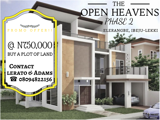 open heavens, starter plots, 750k, ibeju lekki, lerato and adams, land for less, lands in lagos, pwan, call, contact, investment, real estate, lagos, detached houses, flats, land owners,